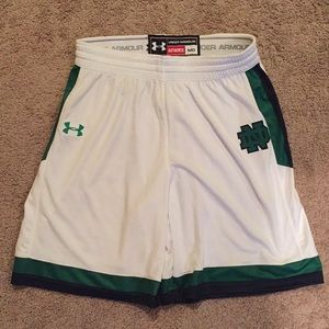 Under Armour men's Notre Dame basketball shorts